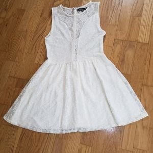 For Love & Lemons whit lace skater dress.